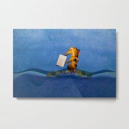 Postman Hippo Histrix Metal Print