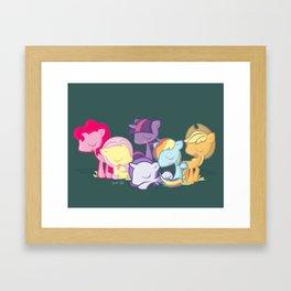 My little little ponies Framed Art Print