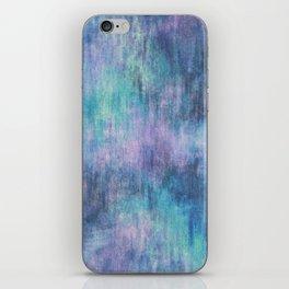 Baja Blue Watercolor Streaks iPhone Skin