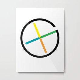 geocaching symbol Metal Print