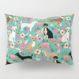 Chihuahua dog breed floral pet gifts perfect present for chihuahuas pure breed Pillow Sham