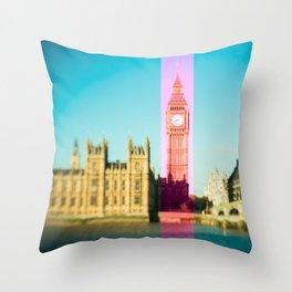 Big Ben Stripe in London Throw Pillow