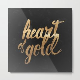 Heart of Gold Metal Print