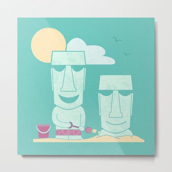 Easter Island Summer Fun Metal Print