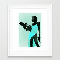 resident evil Framed Art Prints featuring Resident Evil by LynxArtCollection