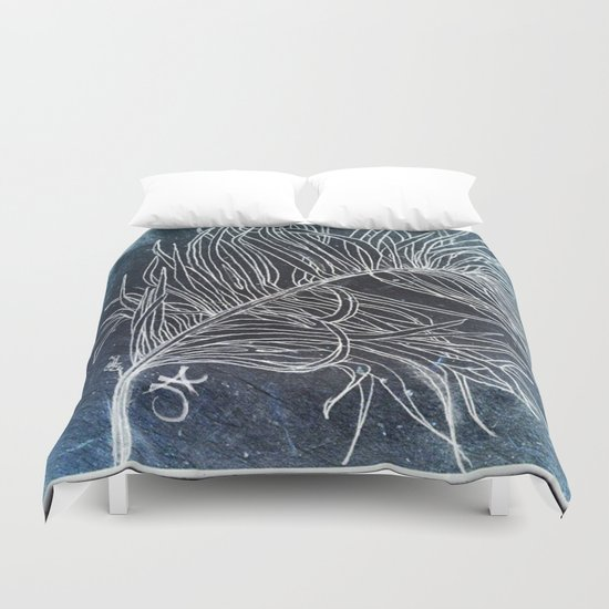 Palm Leaf Earth Day and Easter Duvet Cover