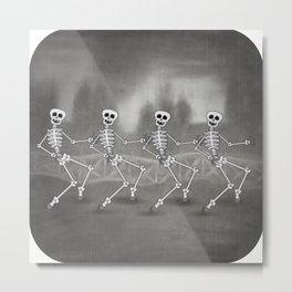 Dancing skeletons II Metal Print