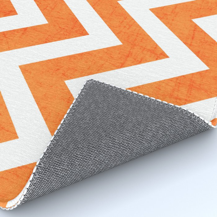 Orange Chevron Rug