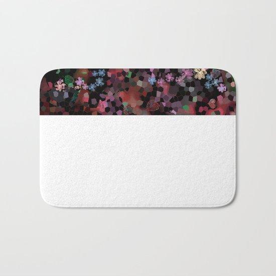 Flower mosaic Bath Mat