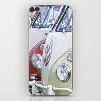 volkswagen iPhone & iPod Skins featuring Old Volkswagen Splitty Buses by Premium