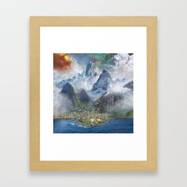 Lakeside Village Framed Art Print