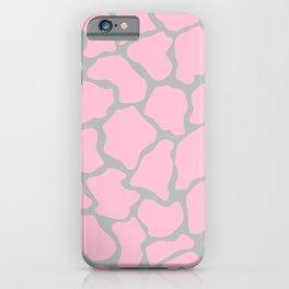 Giraffe Print - Pink & Grey iPhone Case