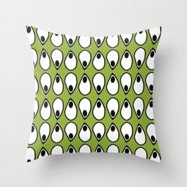 Green Dive- plongeon vers -eyes5 Throw Pillow