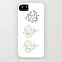 Linden leaves iPhone Case