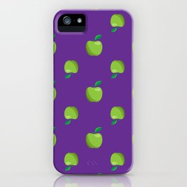 a basket of green apples pattern iPhone Case