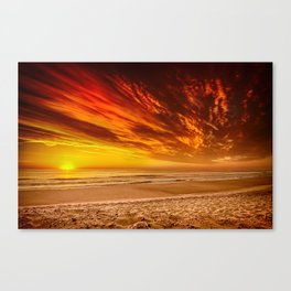 Sunrise over the Atlantic from the Outer Banks, North Carolina Canvas Print
