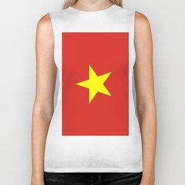 Flag Of Vietnam Biker Tank