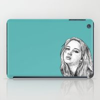 jennifer lawrence iPad Cases featuring Jennifer Lawrence by Sharin Yofitasari