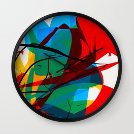 Abstract art made by Thimeo 19 months Wall Clock