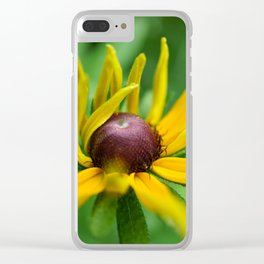 Yellow Coneflower/Rudbeckia Clear iPhone Case