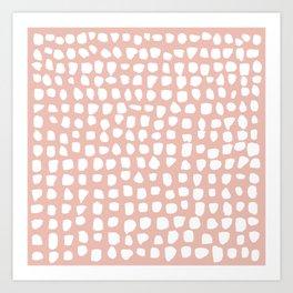 Dots / Pink Art Print