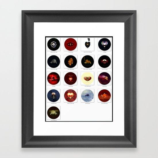"""2-1/4"""" PIN BACK BUTTONS Framed Art Print"""