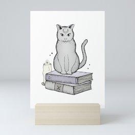 Witches Cat Mini Art Print