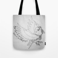 jack sparrow Tote Bags featuring Captain Jack SPARROW by Evanne Deatherage