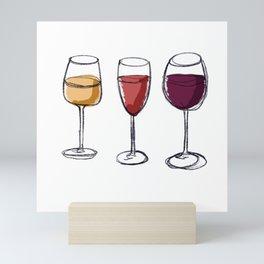 Wine Lover White wine Rose Red wine Mini Art Print