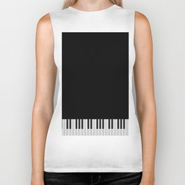 Piano Keyboard Biker Tank
