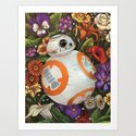 BB-8: Floral Droid by amyinretrograde