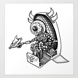 Alien Bounty Hunter in Space by RonkyTonk Art Print