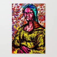 mona lisa Canvas Prints featuring Mona Lisa by Alec Goss