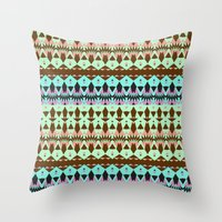 oasis Throw Pillows featuring Oasis by Ornaart