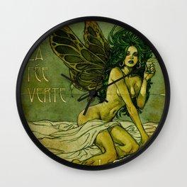 Absinthe La Fee Verte Wall Clock