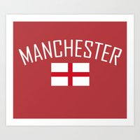 manchester Art Prints featuring Manchester by Earl of Grey