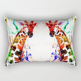 Giraffe Grunge Rectangular Pillow
