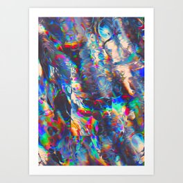 TOUCHING FROM A DISTANCE Art Print