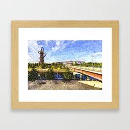 West Ham Olympic Stadium And The Arcelormittal Orbit Art Framed Art Print