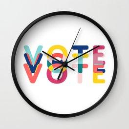 Modern Vote Wall Clock