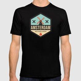 Amsterdam Windmill Badge XXX T-shirt
