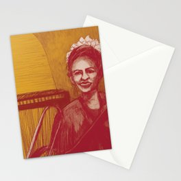 The vocalist Stationery Cards