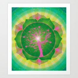 4th Chakra Art Print