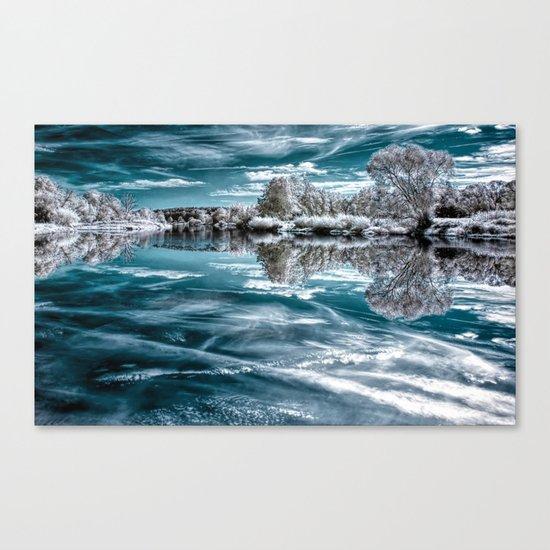 Frosty lake Canvas Print