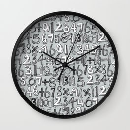 math doodle silver Wall Clock