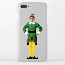 Buddy The Elf Arms Akimbo Christmas movie Will Ferrell Clear iPhone Case