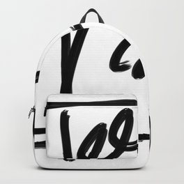 Springs in Spring Black Line Abstract  Backpack