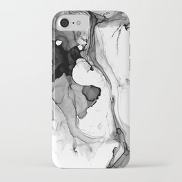 Soft Black Marble iPhone Case