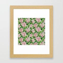 Blooms in pink Framed Art Print