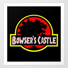 Bowser's Castle Art Print